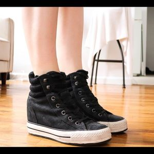 Limited edition Converse wedge heels